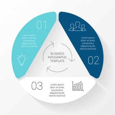 Circle triangle infographic