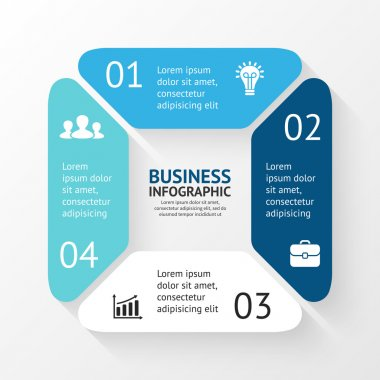 Business concept with 4 options