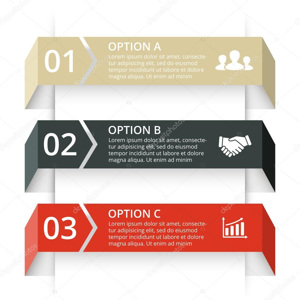 Vector arrows infographic. Template for diagram, graph, presentation and chart. Business concept with 3 options, parts, steps or processes. Abstract background. Data visualization.