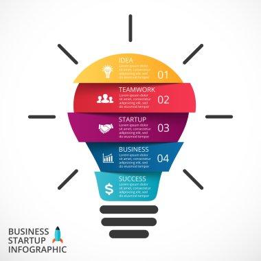 light bulb infographic.