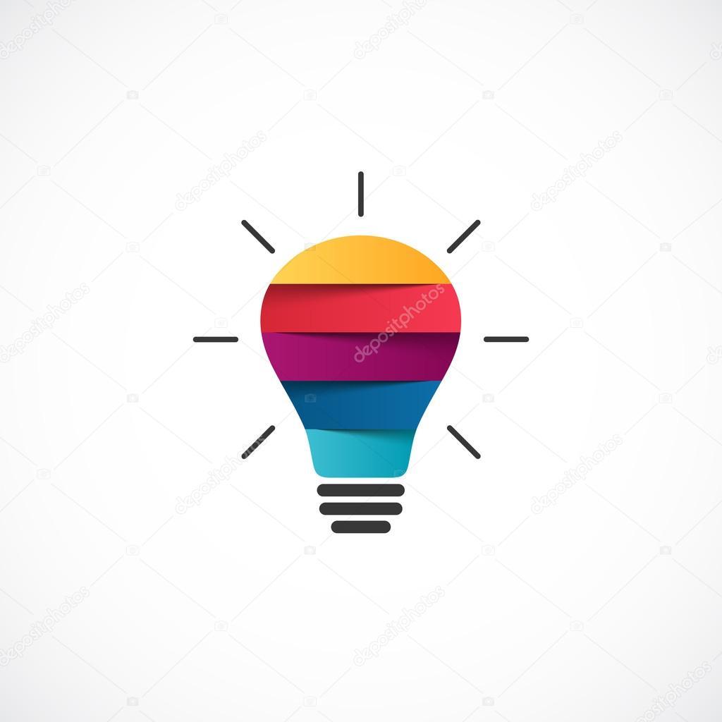 Connu de logo ampoule. Vecteur moderne abstrait créatrice signe ou  BM07