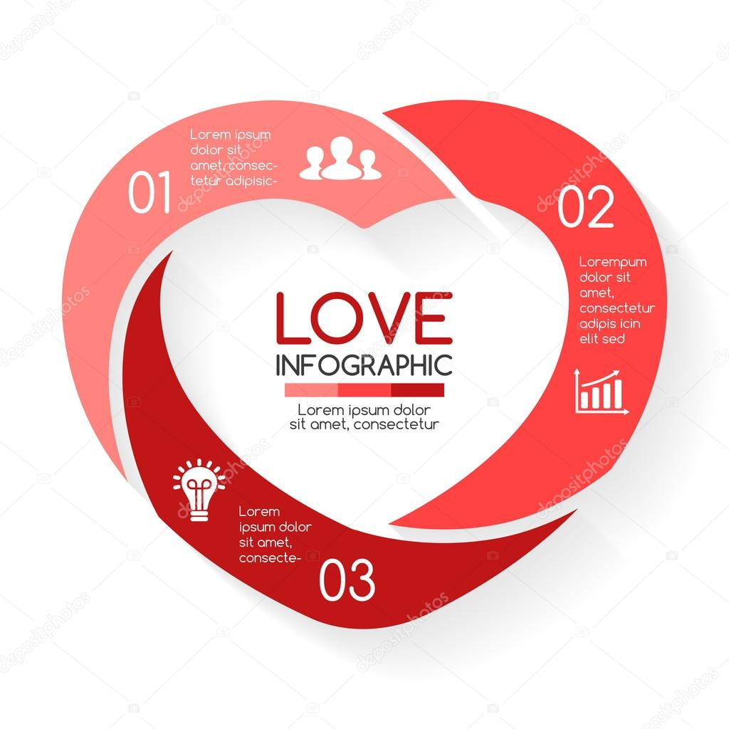 Vector heart circle infographic template for love cycle diagram vector heart circle infographic template for love cycle diagram graph presentation round ccuart Gallery