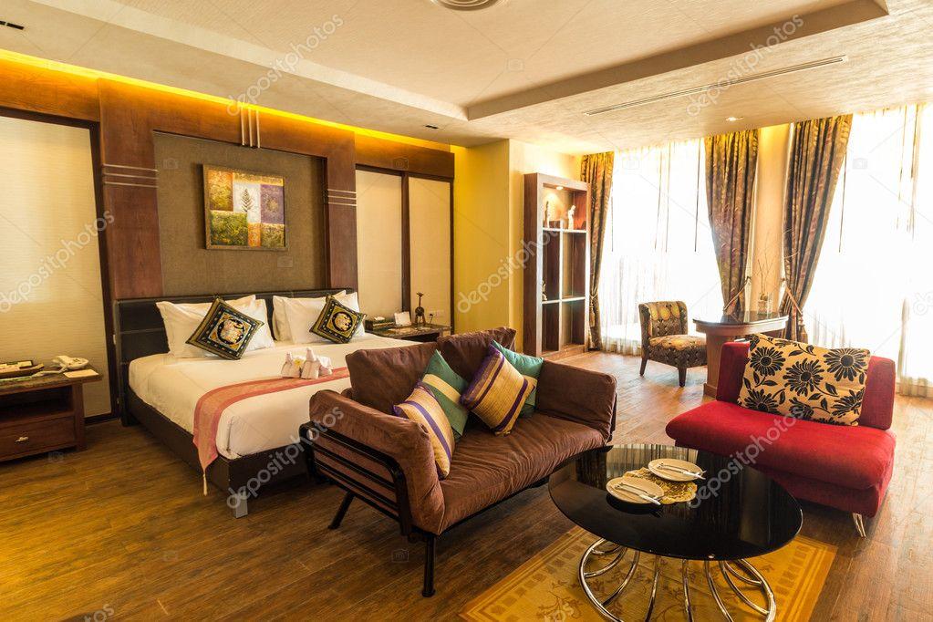 Moderne Stijlen Van Woonkamer Inclusief Bed Resort Thailand ...