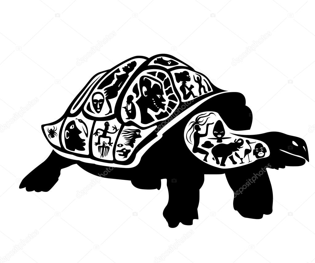 Turtle Tattoo Stamp Stock Vector C Vadim Design 64608521