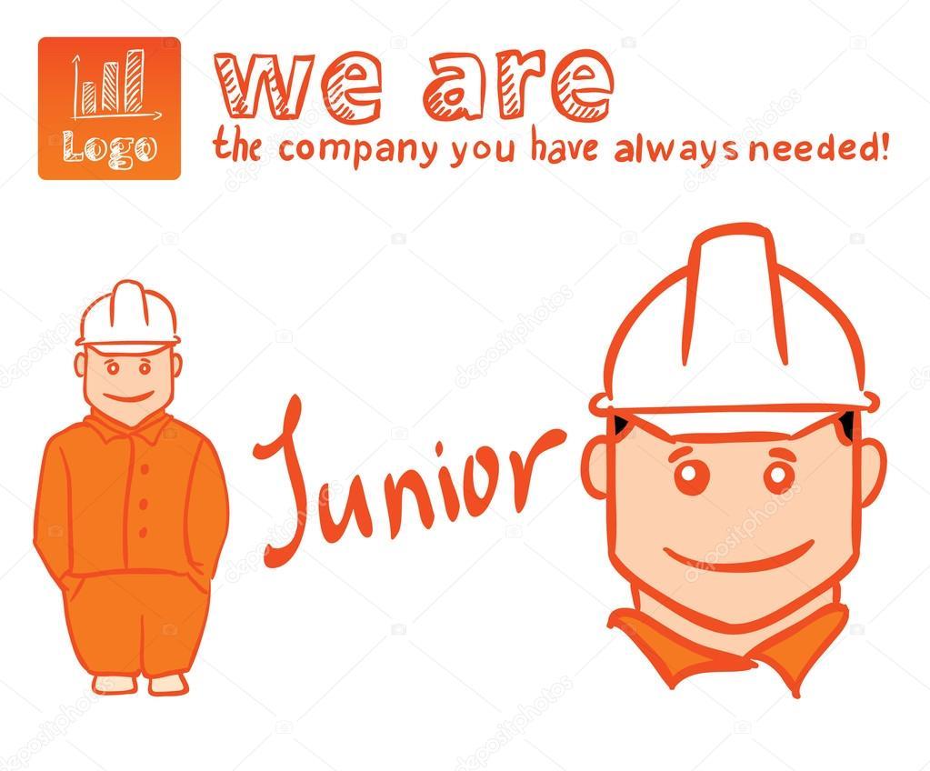 Worker or builder, technician character