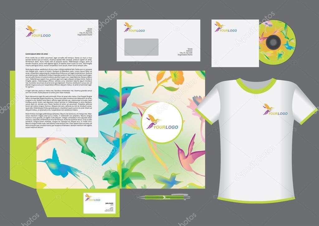 Diseño de plantillas de identidad corporativa de Colibri — Vector de ...