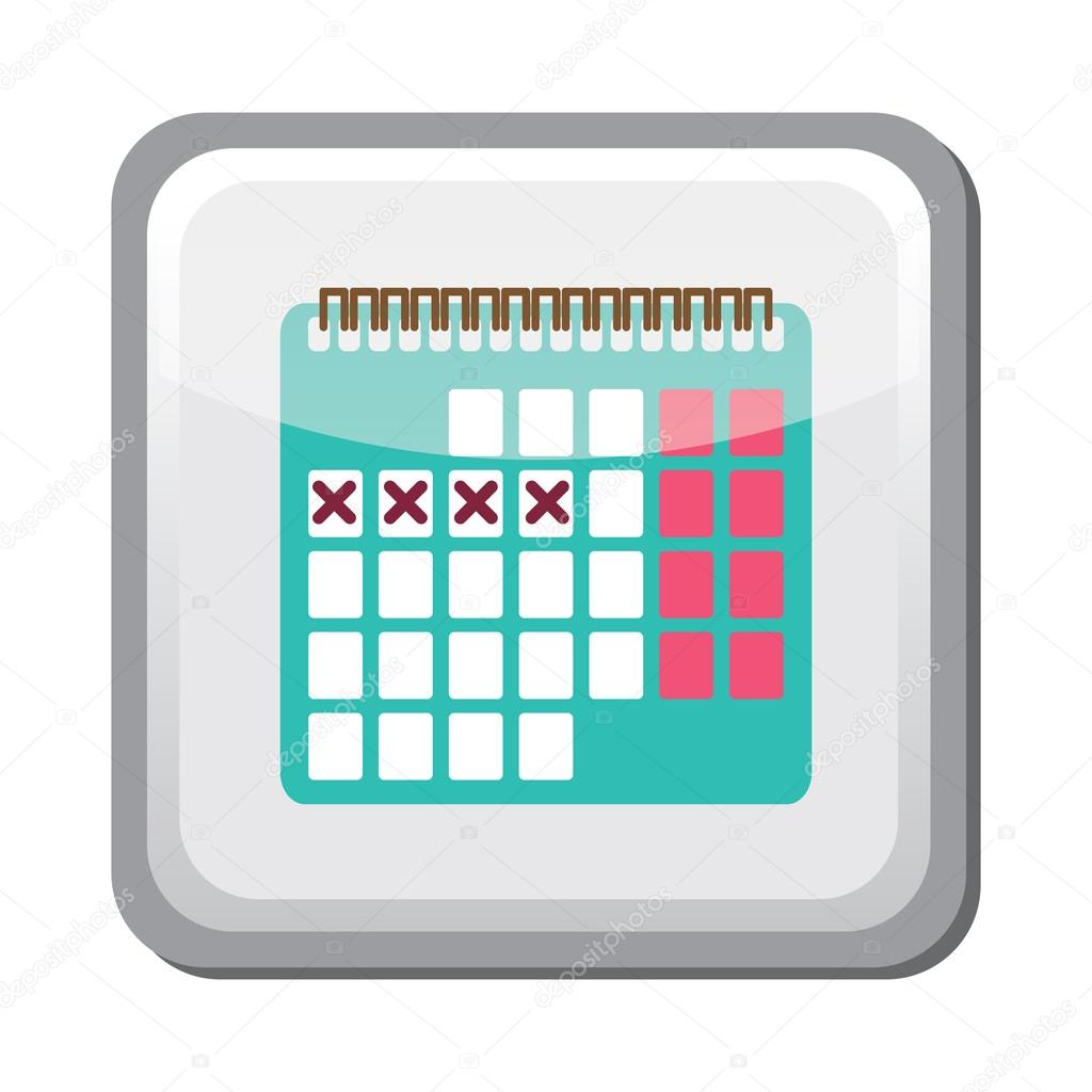 Illustration Of Calendar Method : Icono de método del ritmo calendario — archivo imágenes