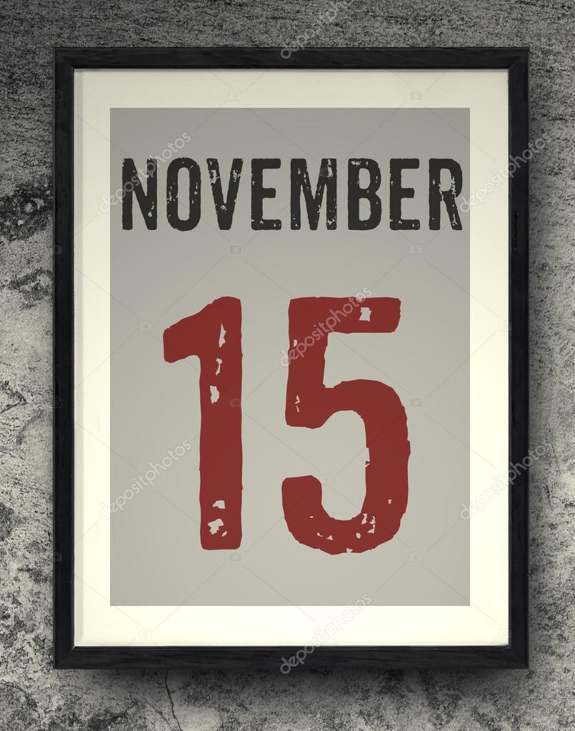 November Kalender auf den Bilderrahmen — Stockfoto © chayathon #91959960