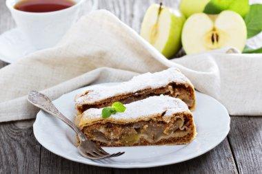 Traditional apple strudel
