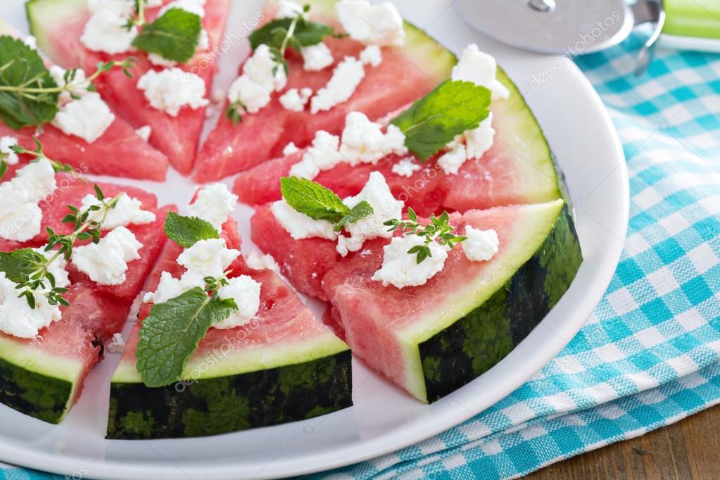 vattenmelonsallad med feta