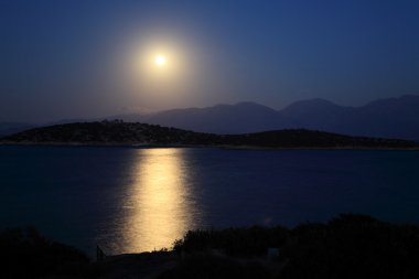 Moonlight Road and Mediterranean Sea