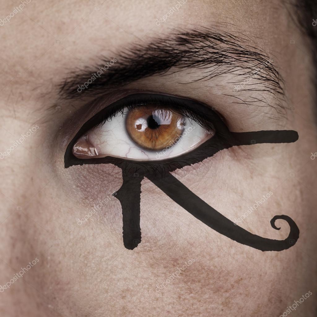 eye of horus make up — Stock Photo © tommasolizzul #56329769