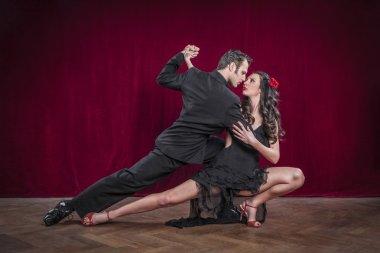 elegant tango dancers