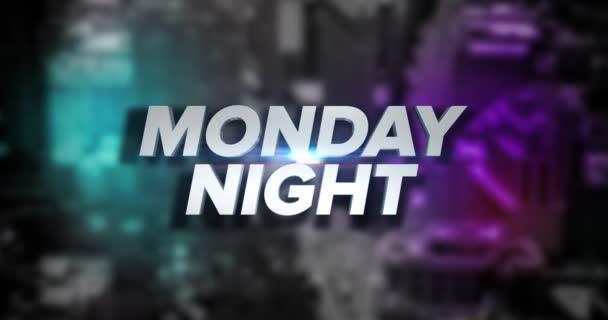 dynamische montagsnacht titelseite hintergrundanimation