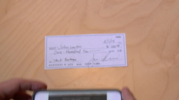 4K Deposit Check with Mobile Phone 3946