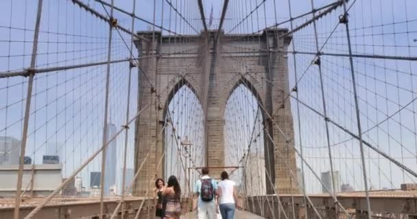 4K POV Walking Over Brooklyn Bridge