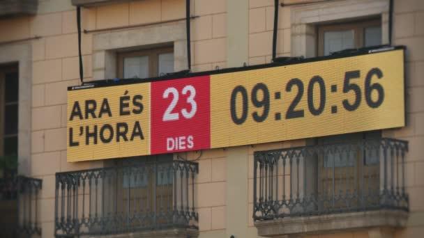 Catalan separatist movement countdown clock