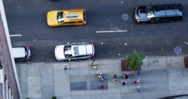 4K Manhattan Streets Aerial View