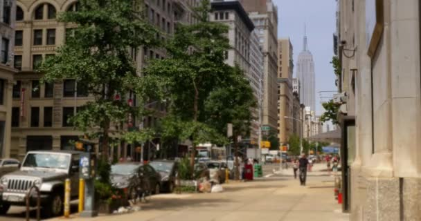 4K New York City View with Empire State Building
