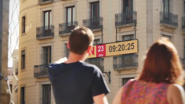 Catalan separatist movement countdown clock