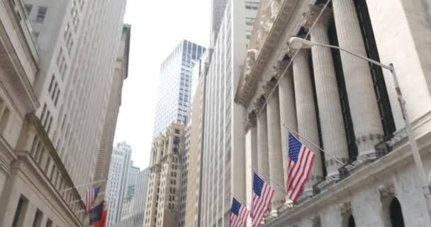 4K Wall Street New York Stock Exchange Establishing Shot