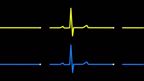 4K Heart Monitor EKG Screens Pulse Trace