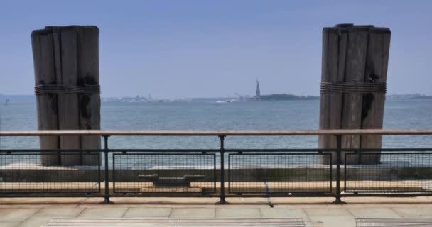 4k Battery Park és a szobor a Liberty View