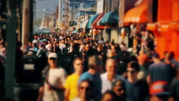 Venice Beach Boardwalk People Walking
