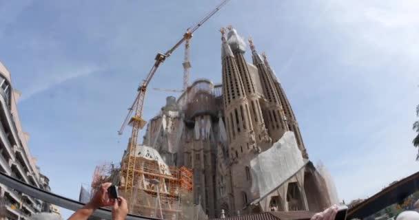 Sagrada Familia while under construction