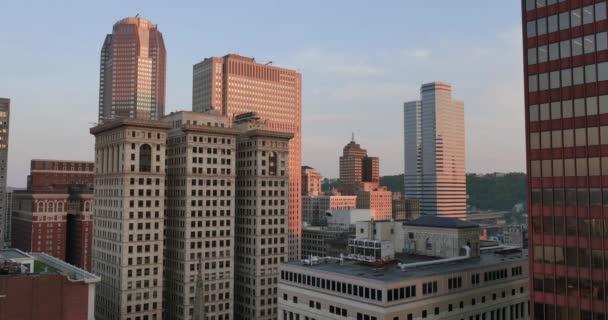 Oscurità che stabilisce Shot della Skyline di Pittsburgh