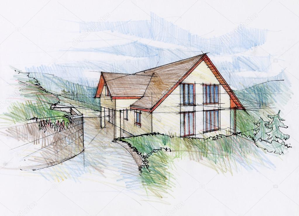 Illustration Of A Architect Dream House Stock Photo C Synovec