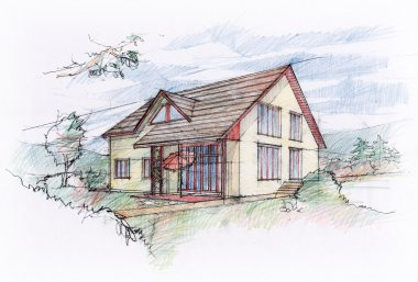 House sketch design