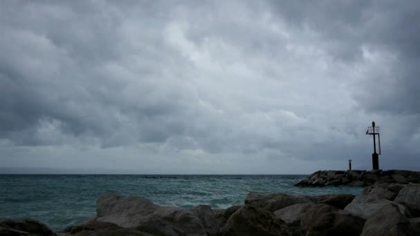 Storm coming over sea