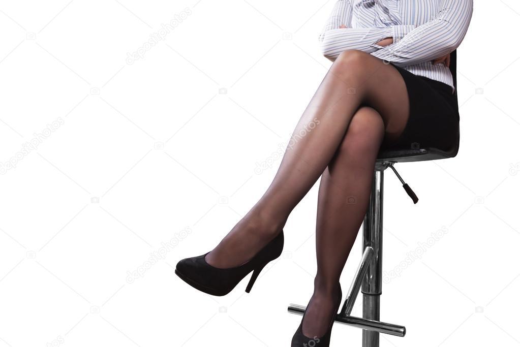 время как на стуле нога за ногу фото неё