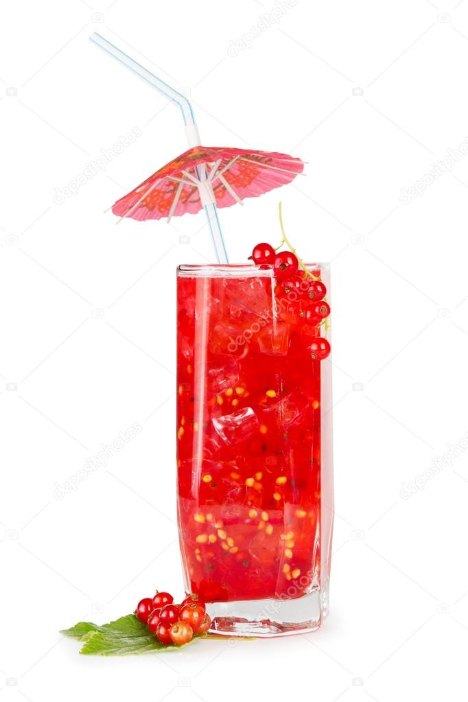 Red current berries drink