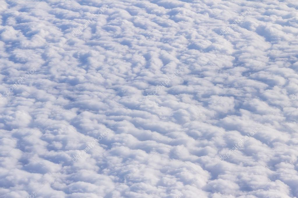 View from the window of airplane