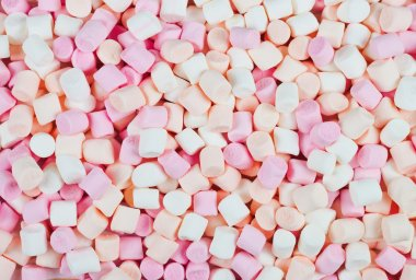 background or texture of mini marshmallows