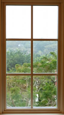 View from inside from a beautiful traditional window