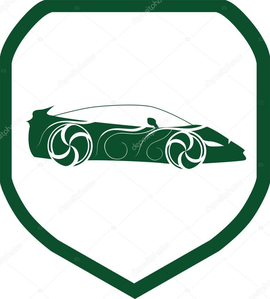 Sports Car Icon Symbols Stock Vector C Kozzi2 107680666