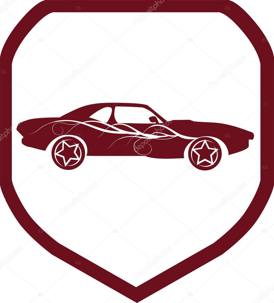 Sports Car Icon Symbols Stock Vector Kozzi2 107680894