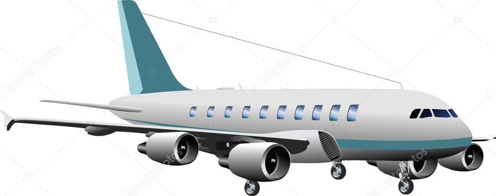 飛行機イラスト クリップアート ストックベクター Kozzi2 107726428