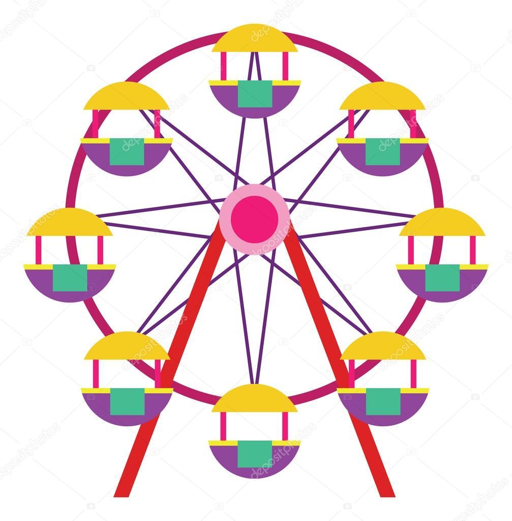 ferris wheel icon � stock vector 169 kozzi2 107856816