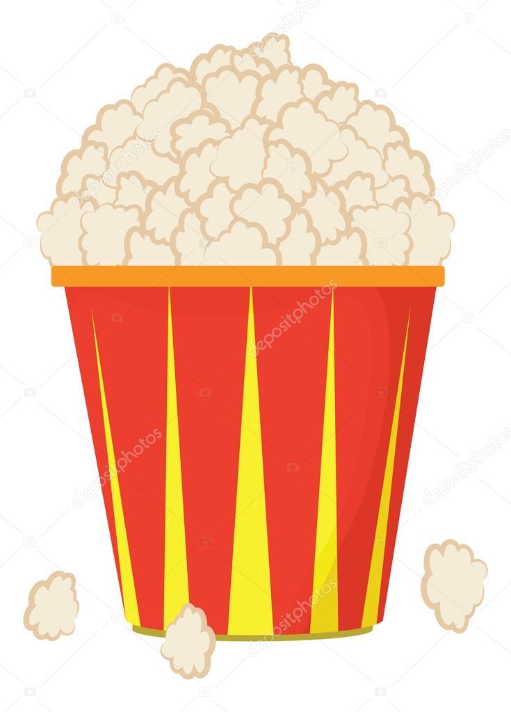 Vektor Kreslene Plastova Miska S Popcorn Stock Vektor C Kozzi2