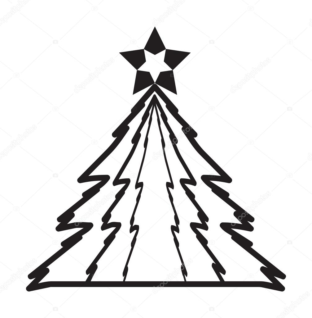 Funky modern Christmas trees vector — Stock Vector ...