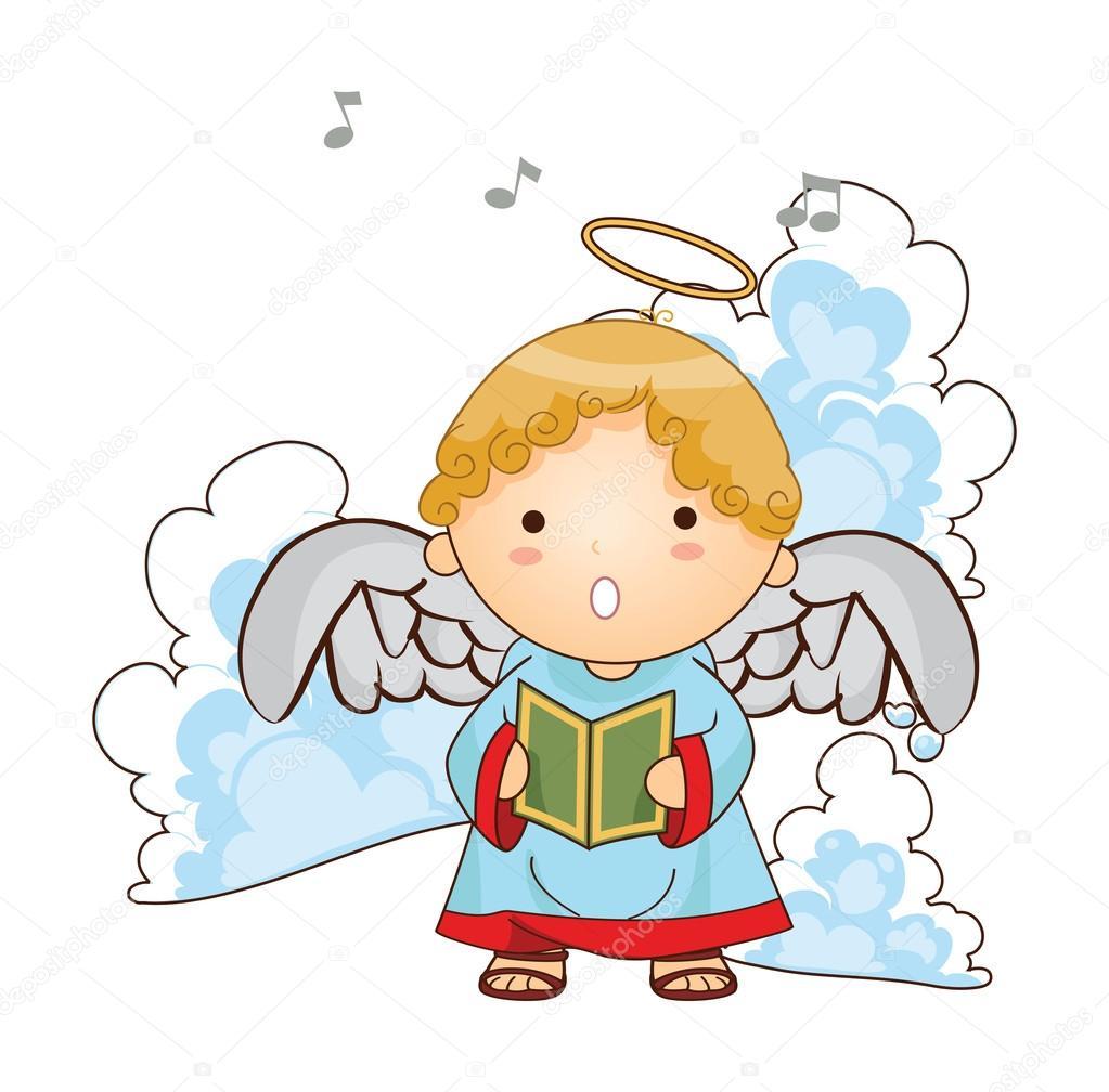 Imagenes De Angelitos Navidenos.Angelitos Caricatura Angelitos Navidenos Vector Vector