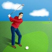 mužské golfista vektor