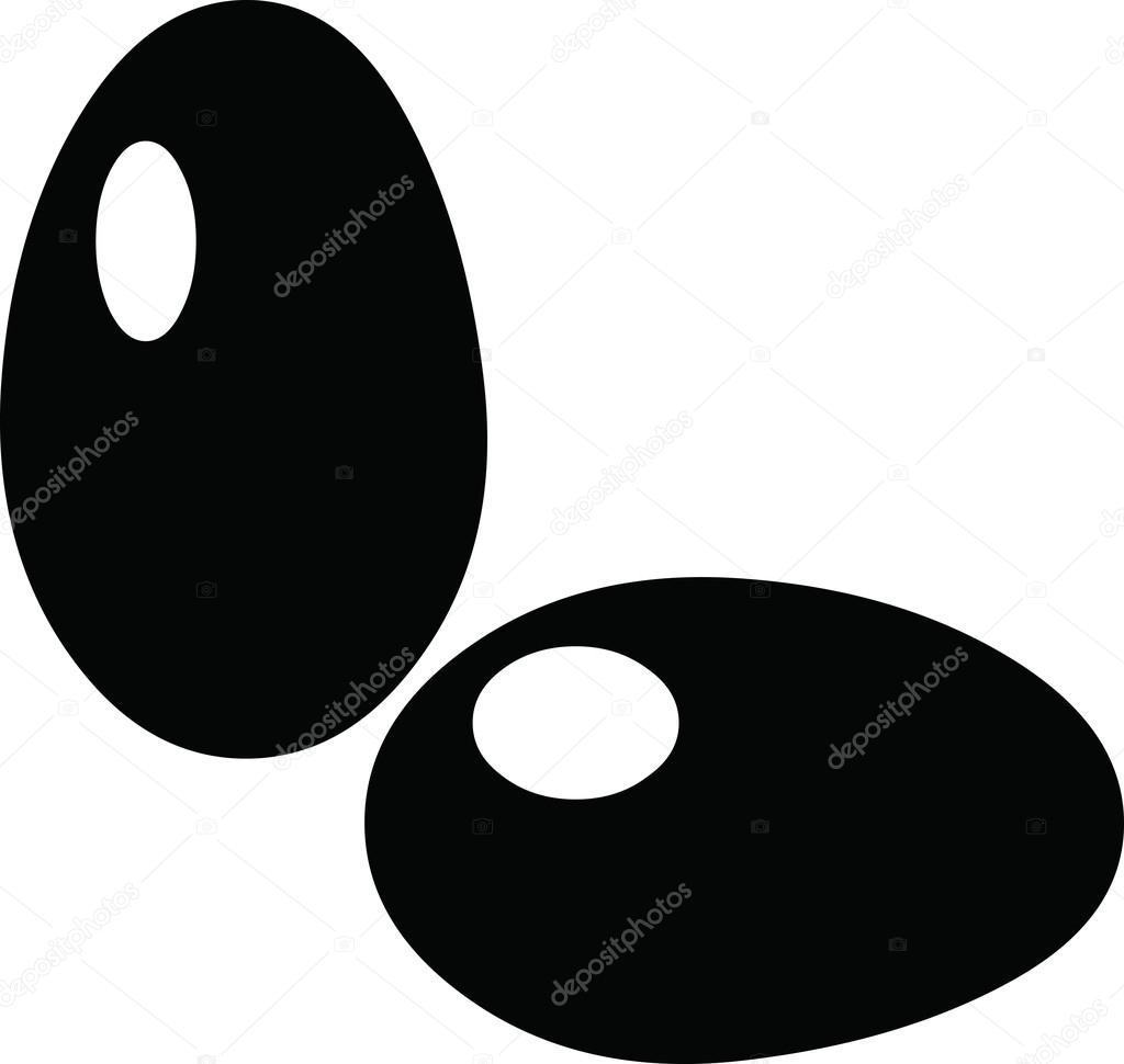 Ilustración de imágenes prediseñadas de huevos negro — Vector de ...