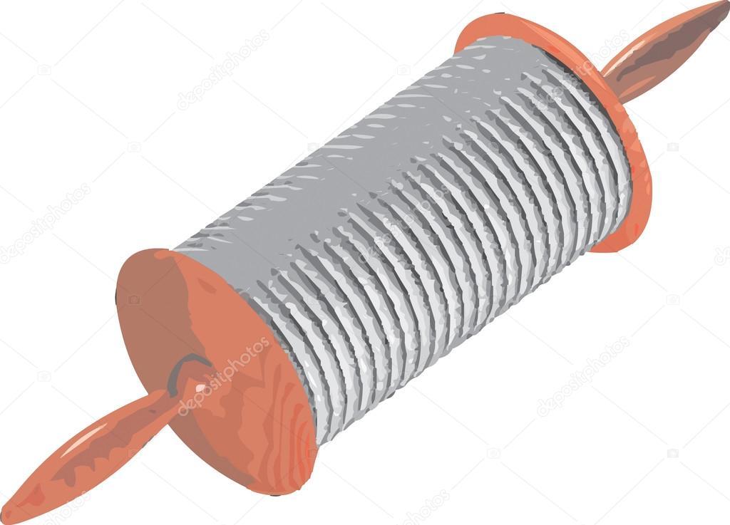 Spule-Clipart-Abbildung — Stockvektor © kozzi2 #108483548