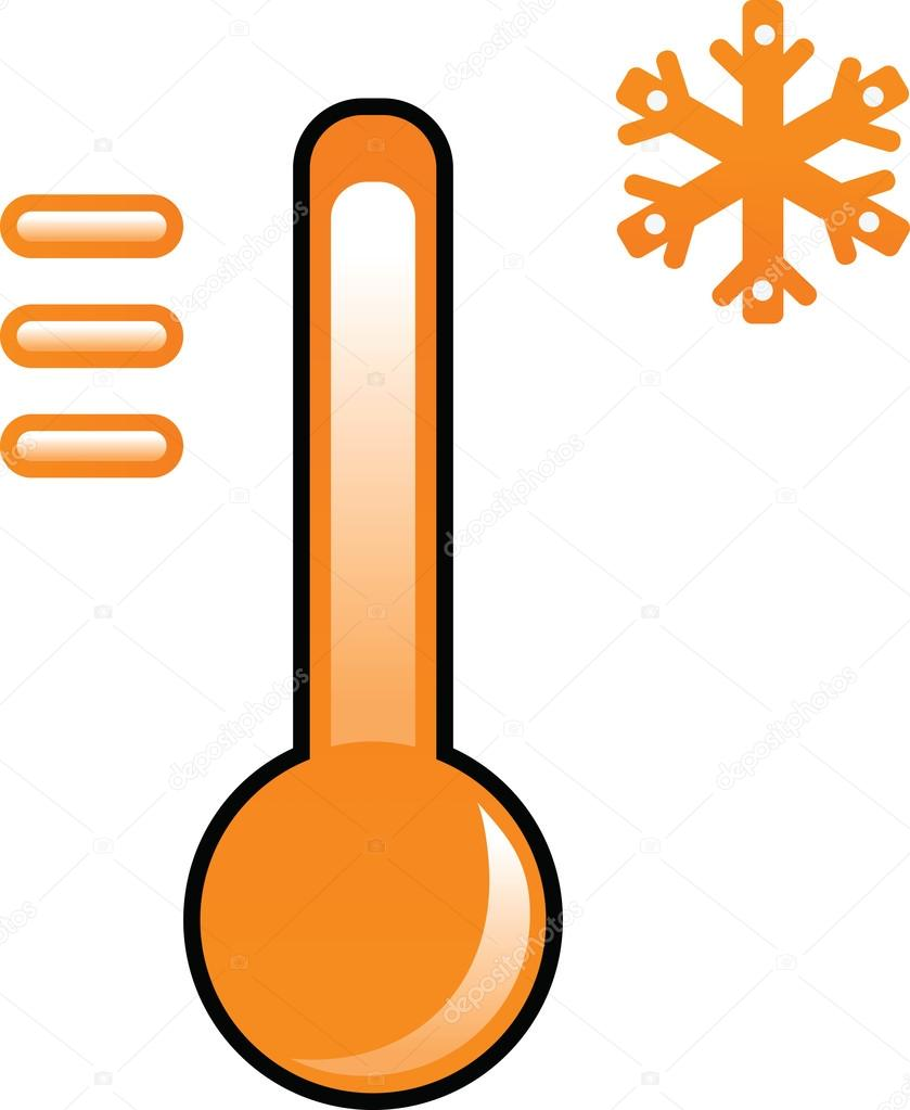 Orange Thermometer Clipart Abbildung Stockvektor C Kozzi2 108515854