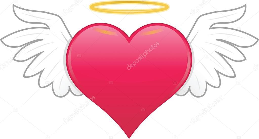 Retro Red Heart With Wings Cartoon Stock Vector Kozzi2 108529270